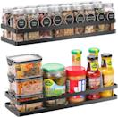 <p>Make use of vertical space with the <span>Scnvo Spice Rack Organizer</span> ($20 for two). You can hang these on your walls or even on the inside of your cabinet and pantry doors for extra storage. </p>