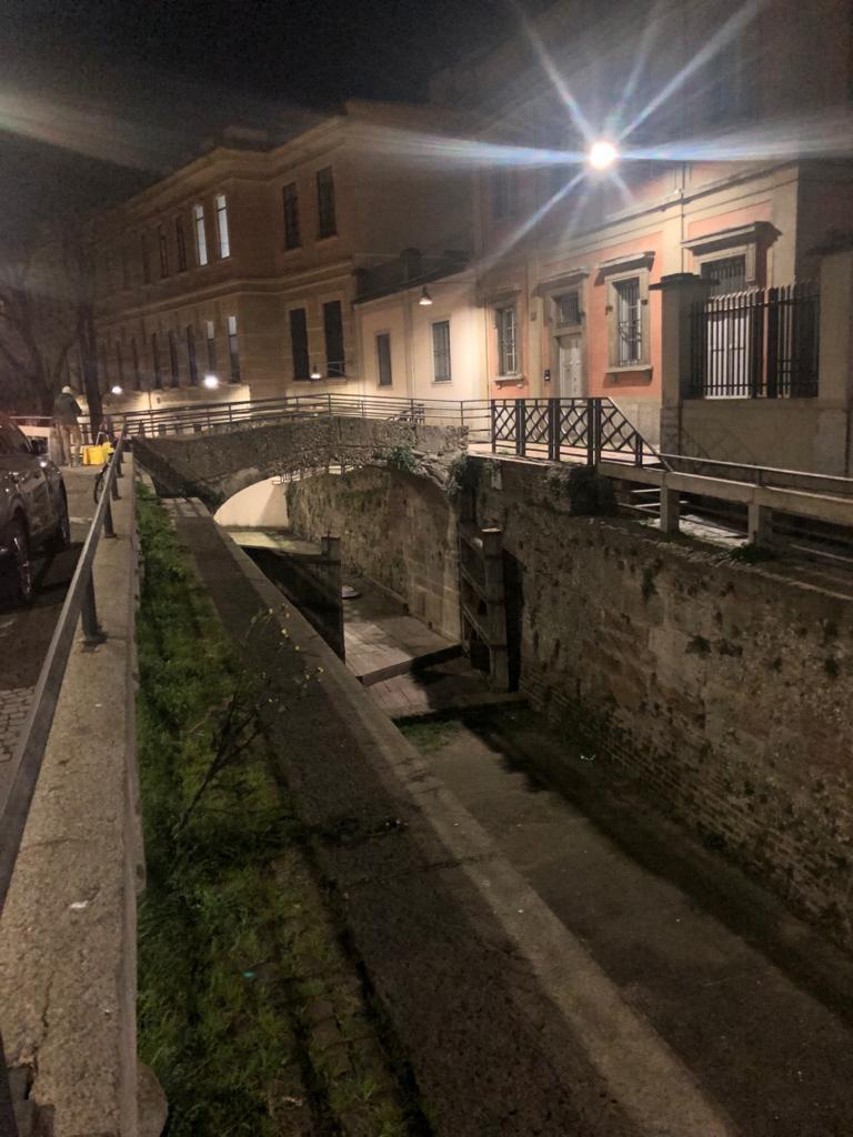 Image: Deserted northern Italian street. Image: Supplied