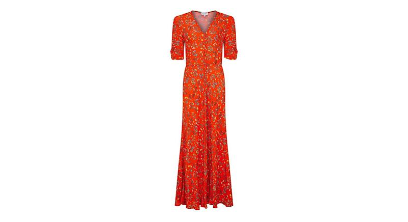 Marley Dress Flossy Folk Floral Red