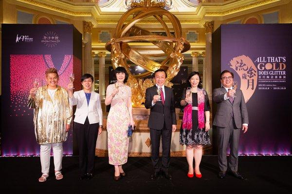 Guests of honour officiate the opening of Sands China's All That's Gold Does Glitter - An Exhibition of Glamorous Ceramics Saturday at The Venetian Macao. The museum-quality ceramics exhibition was especially curated by internationally renowned ceramic artist Caroline Cheng for Sands China, and is being held concurrently across four Sands China properties until Oct. 9 as part of Art Macao 2019.