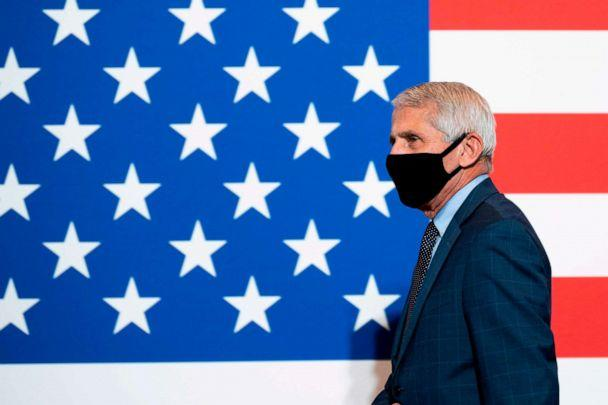 PHOTO: Dr. Anthony Fauci, director of the National Institute for Allergy and Infectious Diseases, joins President Donald Trump at the American Red Cross National Headquarters on July 30, 2020, in Washington, D.C. (Jim Watson/AFP via Getty Images)