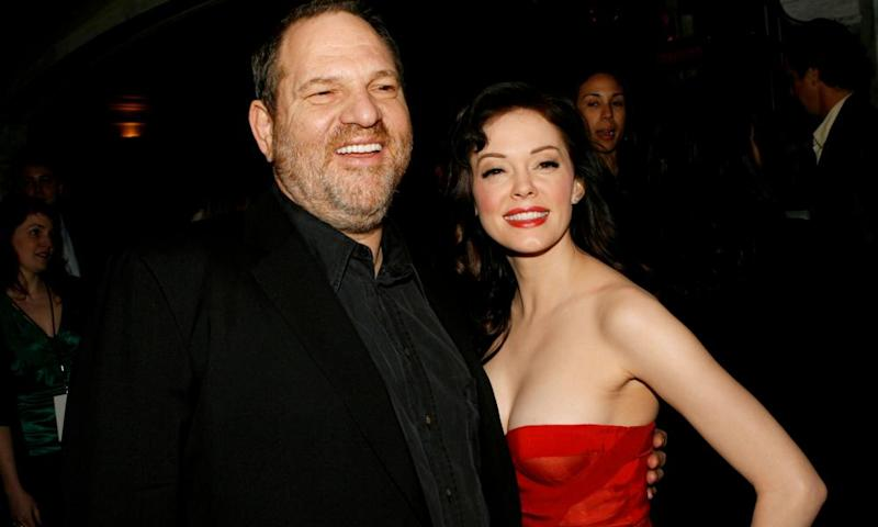 Rose McGowan with Harvey Weinstein at a film premiere in 2007.