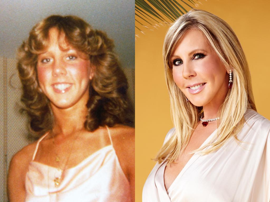 """<b>Vicki Gunvalson (Orange County)</b><br><br> Surely, Vicki would give a """"woohoo"""" for her flat iron. The bubbly Orange County star may have ditched her '80s perm, but those dimples are classic Vicki. And she has every reason now to smile: After ending a loveless marriage, her """"love tank"""" is now full, thanks to new beau Brooks.<br><br><a target=""""_blank"""" href=""""http://www.bravotv.com/the-real-housewives-of-orange-county/season-7/photos/photo-diaries/before-they-were-housewives-vicki"""">More Photos of Vicki</a>"""