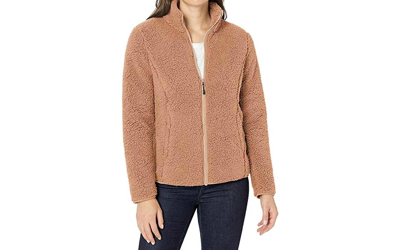 """<p>Get in on the sherpa trend with this cozy polar fleece from Amazon Essentials. </p> <p>To buy: <a href=""""https://www.amazon.com/Amazon-Essentials-Womens-Full-Zip-XX-Large/dp/B07QNZ1VS3/ref=as_li_ss_tl?ie=UTF8&linkCode=ll1&tag=tlfascoldweatheraccessoriesmdiamondnov19-20&linkId=5d7d3fd2566a9bff39e7d64f6b7c2d35&language=en_US"""">amazon.com</a>, $30</p>"""