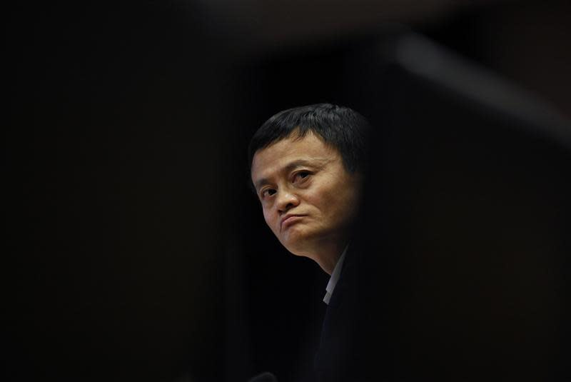File photo of Ma, chairman of China's largest e-commerce firm Alibaba Group, attending a corporate event on the outskirts of Hangzhou