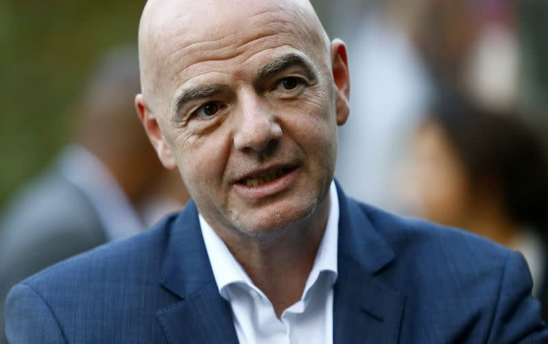 FIFA's President Infantino is seen in Zurich