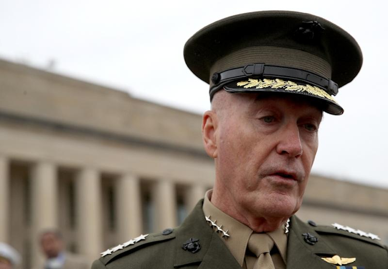 U.S. Chairman of the Joint Chiefs of Staff Gen. Joseph Dunford has denied a WSJ report that Washington intends to leave almost 1,000 troops in Syria