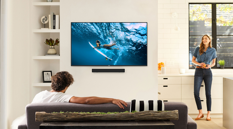 This Vizio Class M-Series model has over 8 million pixels and comes with popular apps like Netflix and Hulu.