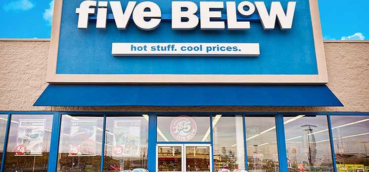 A Five Below store.