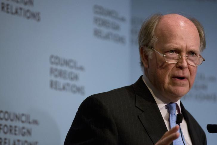 Philadelphia Federal Reserve President Charles Plosser speaks at the Council on Foreign Relations in New York