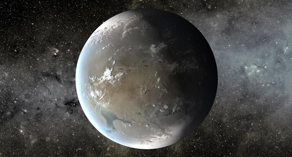 Kepler-62f is a a super-Earth discovered by NASA's Kepler spacecraft