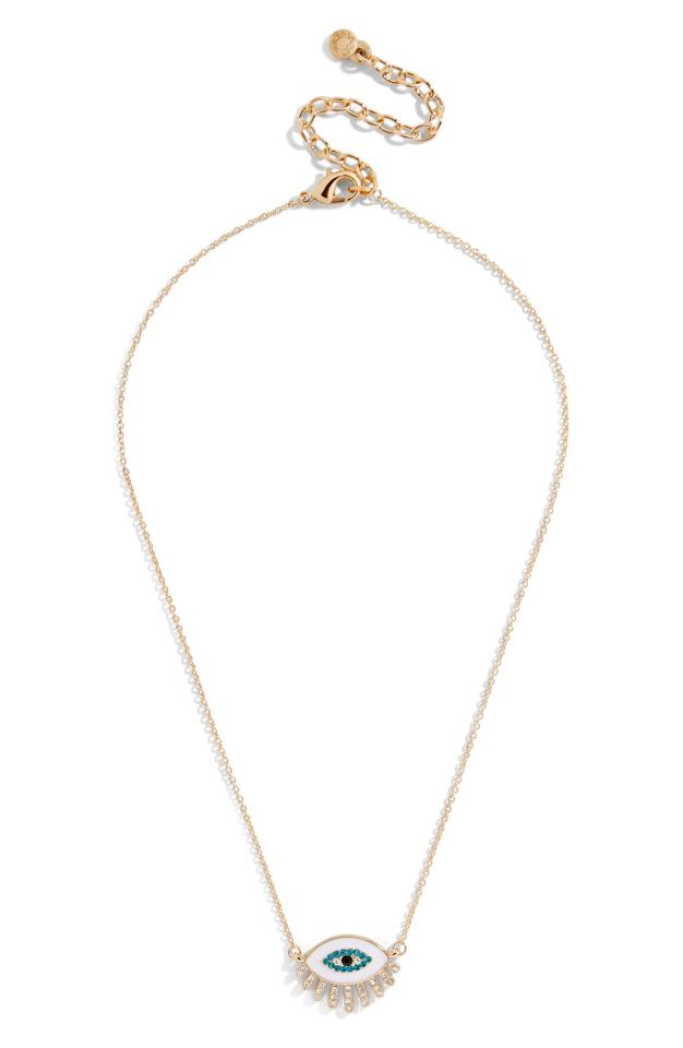 """<p>This delicate <a href=""""https://www.popsugar.com/buy/Baublebar-Evil-Eye-Necklace-503814?p_name=Baublebar%20Evil%20Eye%20Necklace&retailer=shop.nordstrom.com&pid=503814&price=44&evar1=moms%3Aus&evar9=42686901&evar98=https%3A%2F%2Fwww.popsugar.com%2Ffamily%2Fphoto-gallery%2F42686901%2Fimage%2F46781293%2FBaublebar-Evil-Eye-Necklace&list1=gifts%2Choliday%2Cgift%20guide%2Cgifts%20for%20kids%2Ckid%20shopping%2Ctweens%20and%20teens%2Cgifts%20for%20teens&prop13=api&pdata=1"""" rel=""""nofollow"""" data-shoppable-link=""""1"""" target=""""_blank"""" rel=""""nofollow"""" class=""""ga-track"""" data-ga-category=""""Related"""" data-ga-label=""""https://shop.nordstrom.com/s/baublebar-athena-eye-pendant-necklace/5310214"""" data-ga-action=""""In-Line Links"""">Baublebar Evil Eye Necklace</a> ($44) is trendy yet understated.</p>"""