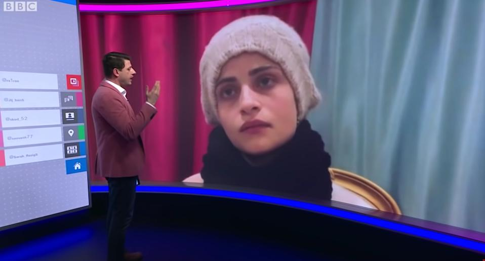 Om Sayf speak to BBC about her Youtube video