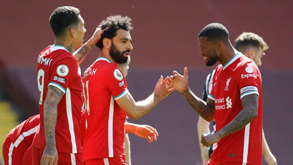 O Liverpool faz uma temporada aquém das expectativas na Premier League. | Pool/Getty Images