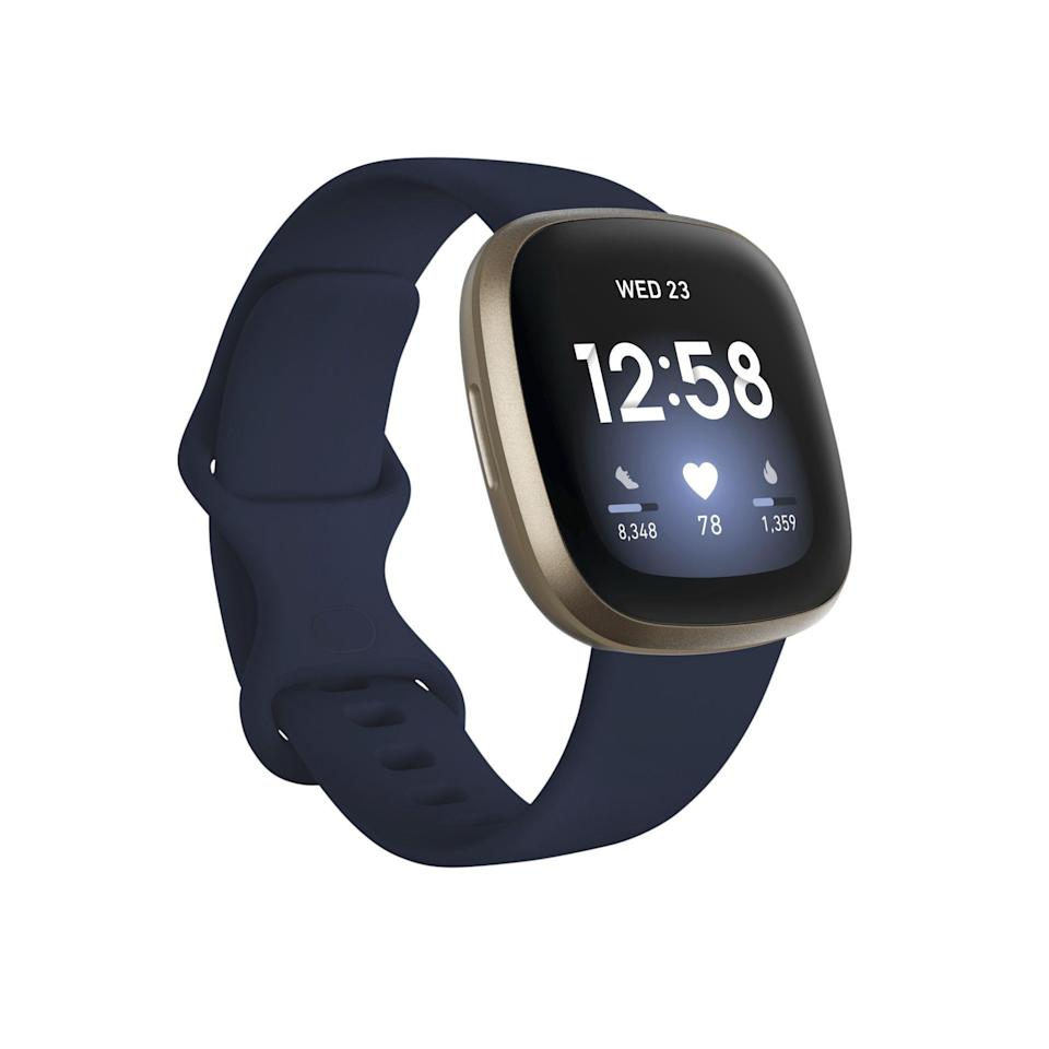 """<p><strong>Fitbit</strong></p><p>amazon.com</p><p><strong>$228.95</strong></p><p><a href=""""https://www.amazon.com/dp/B08DFPV5Y2?tag=syn-yahoo-20&ascsubtag=%5Bartid%7C2141.g.35229014%5Bsrc%7Cyahoo-us"""" rel=""""nofollow noopener"""" target=""""_blank"""" data-ylk=""""slk:Shop Now"""" class=""""link rapid-noclick-resp"""">Shop Now</a></p><p>This latest Fitbit has built- in GPS, so you can leave your phone at home and still know exactly how far you've gone. Plus, the new Active Zone Minutes feature helps you track all your movement: Testers loved knowing when they were in fat burn vs. cardio zones.</p>"""