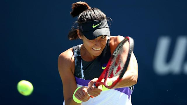 After an early exit at the US Open, Carolina Garcia was successful in her first outing at the Zhengzhou Open on Monday.