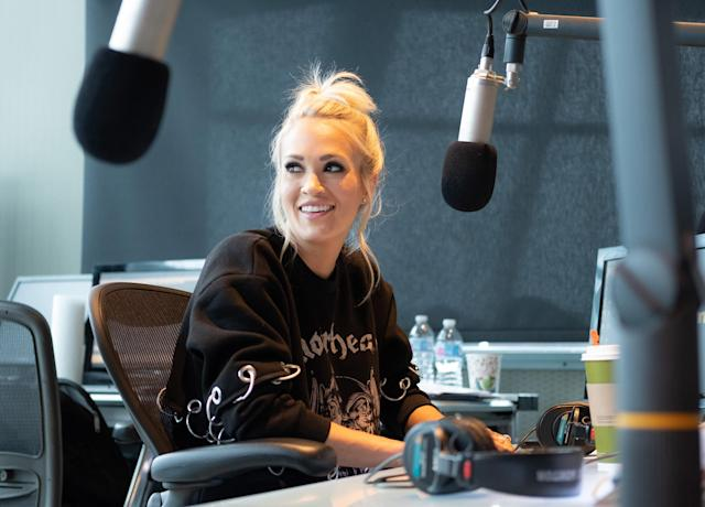 Carrie Underwood in Nashville on Thursday. (Photo: Jason Kempin/Getty Images for SiriusXM)