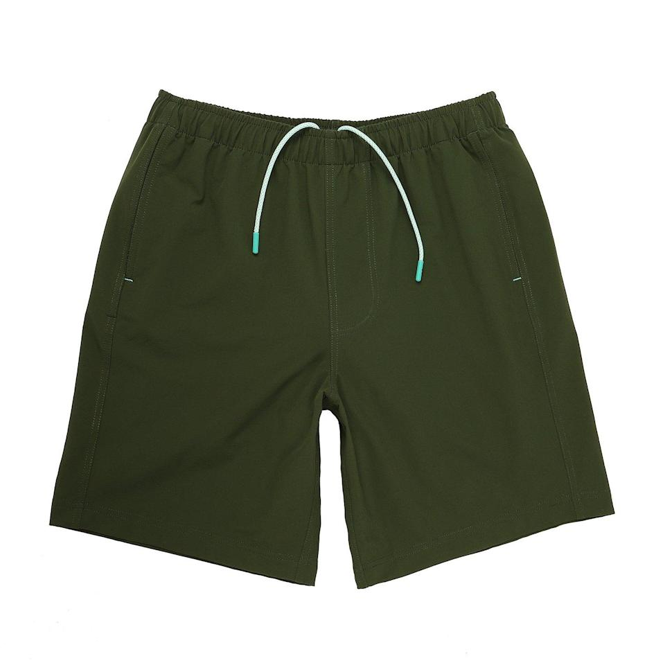 "For the dad who wears shorts <em>everywhere:</em> Myles's versatile shorts are ""lightweight enough for workouts, durable enough for the outdoors, and stylish enough to wear with a button-down."" Orders are typically delivered between three and seven business days, but you can pay $8 for two-day shipping to get it sooner. $58, Myles. <a href=""https://mylesapparel.com/products/everyday-short-in-pine"" rel=""nofollow noopener"" target=""_blank"" data-ylk=""slk:Get it now!"" class=""link rapid-noclick-resp"">Get it now!</a>"