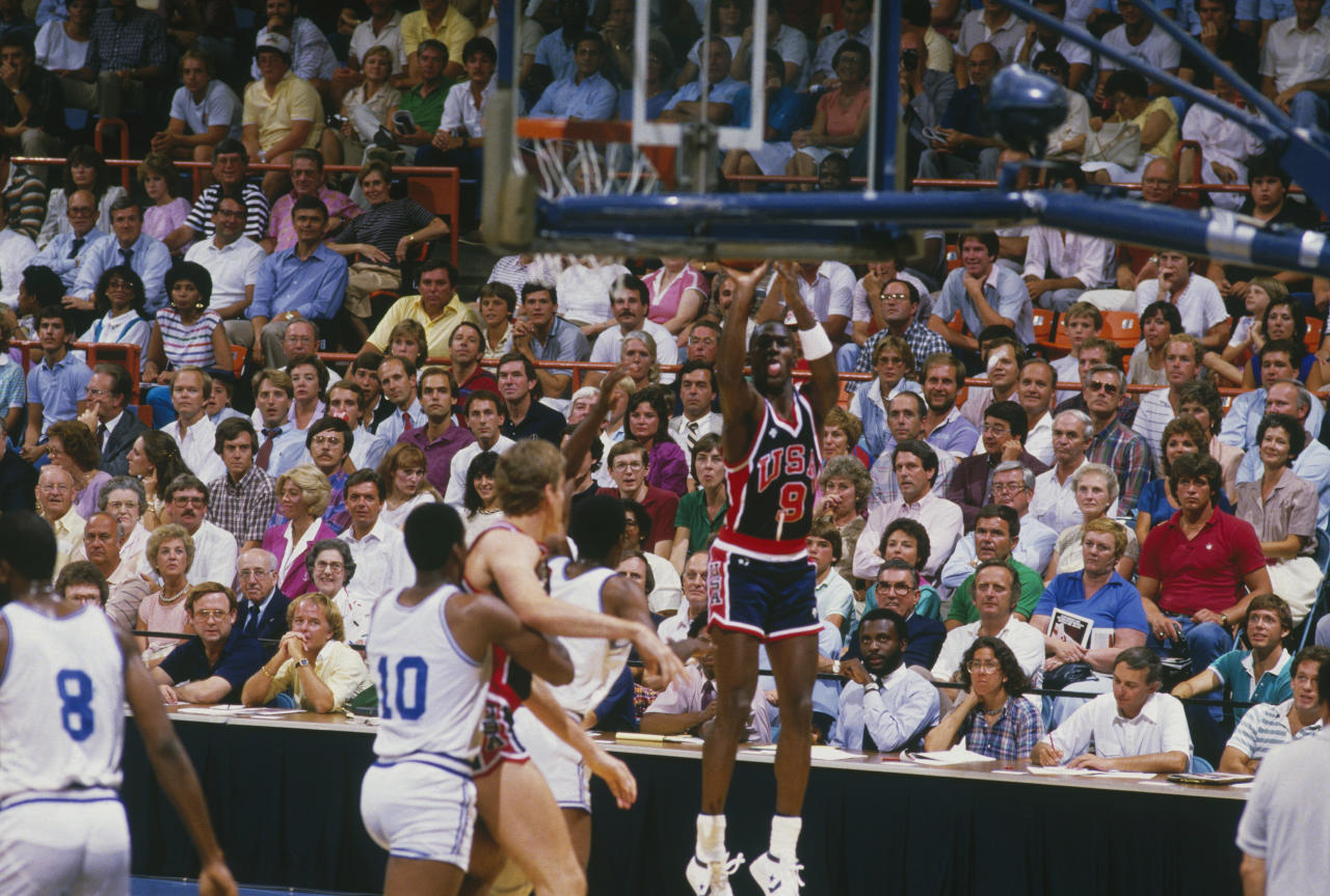 Michael Jordan first suited up for the Olympics in 1984 and led the United States to the gold medal. (Getty Images)