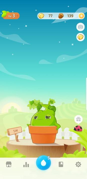 Screenshot of the Plant Nanny app showing your plant