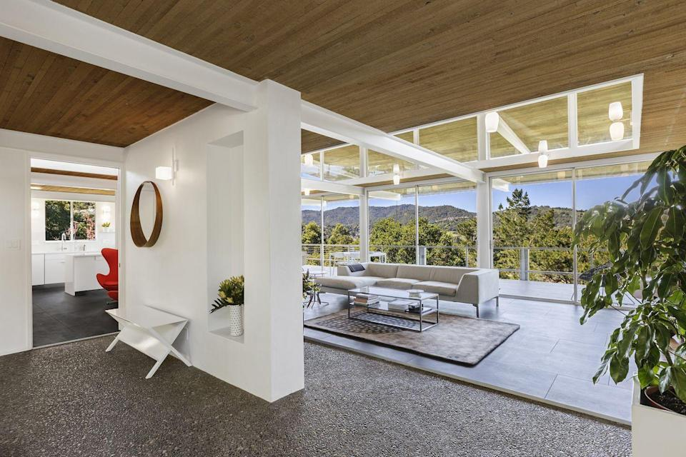 """<p>Built in 1963 as part of California's post-WWII Case Study House Program, this Bay Area home—also known as Case Study House #26—is the only remaining property from the endeavor available for rent. Owned and maintained by architect Cord Struckmann and situated within close distance of Napa, this modernist paragon features sweeping views of the surrounding Northern California landscape and access to a rich library on midcentury architecture—so you can study up while relaxing.</p><p><a class=""""link rapid-noclick-resp"""" href=""""https://www.airbnb.com/rooms/10075316"""" rel=""""nofollow noopener"""" target=""""_blank"""" data-ylk=""""slk:Book Now"""">Book Now</a></p>"""