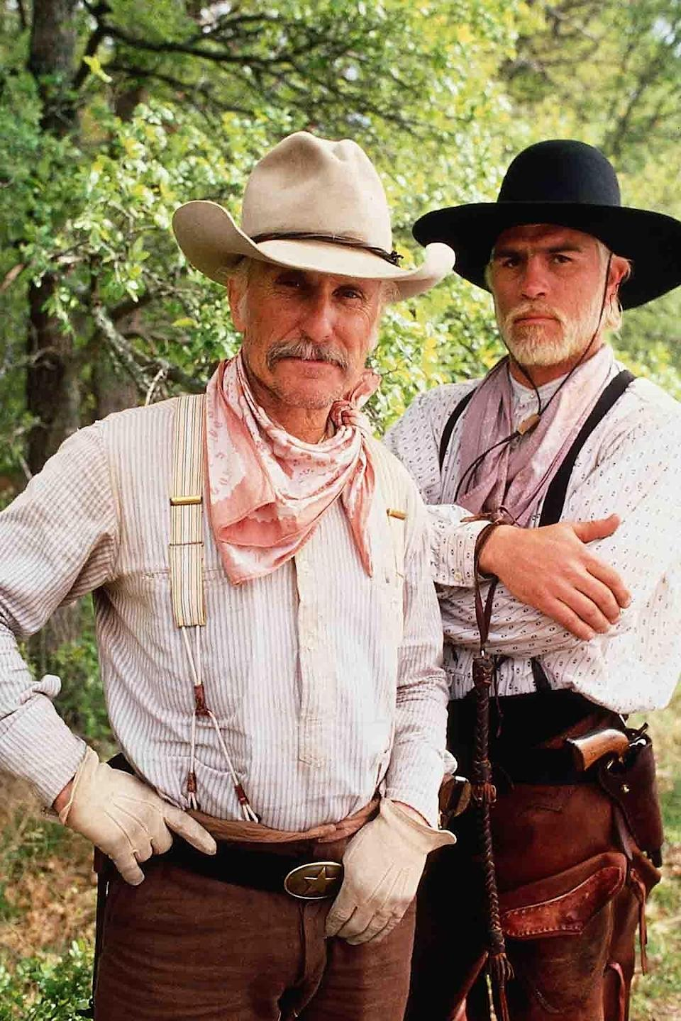 """Robert Duvall, left, and Tommy Lee Jones in the 1989 CBS miniseries """"Lonesome Dove."""""""