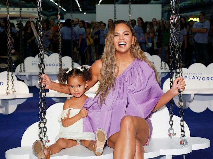 Chrissy Teigen and daughter Luna have shared twinnign moments in the past.