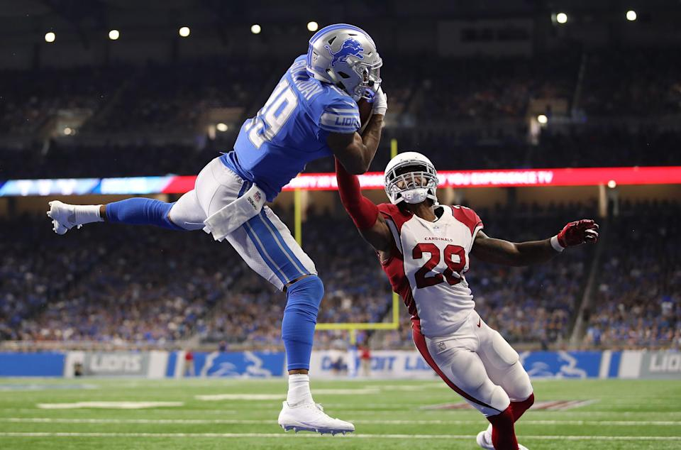 Kenny Golladay could have trouble making circus catches like this one against the Vikings secondary. (Photo by Gregory Shamus/Getty Images)