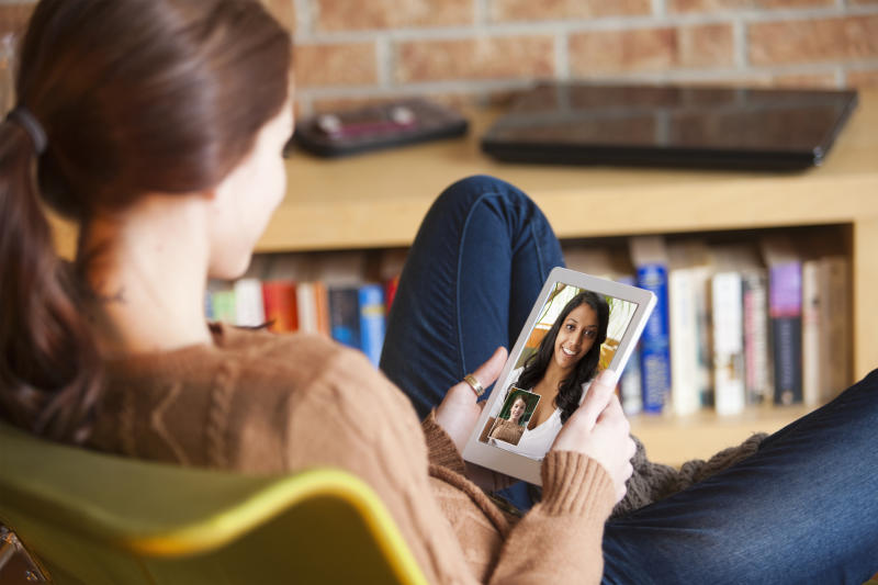 The coronavirus lockdown has meant we've had to conduct our social lives online. (Getty Images)