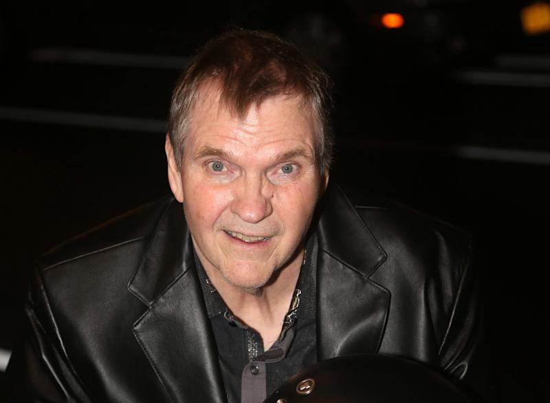 "NEW YORK, NEW YORK - AUGUST 20: Meat Loaf visits the cast of the musical ""Bat Out Of Hell"" on Broadway at New York City Center on August 20, 2019 in New York City. (Photo by Bruce Glikas/WireImage)"
