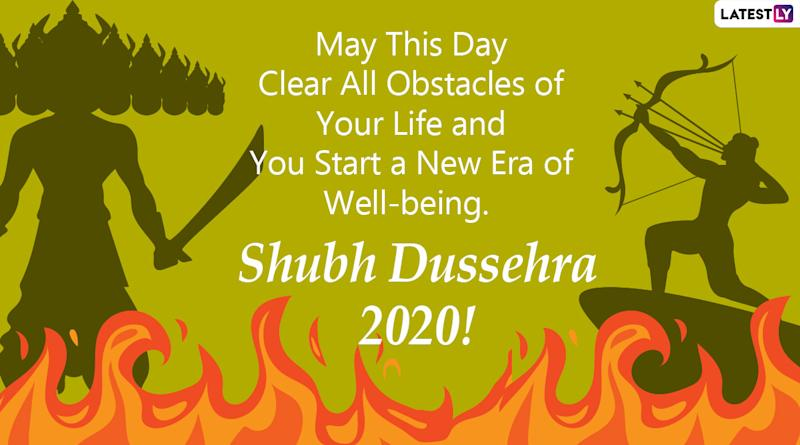 dussehra 2020 wishes and hd images whatsapp stickers hike gifs facebook greetings and instagram photos to send vijayadashami messages to everyone dussehra 2020 wishes and hd images