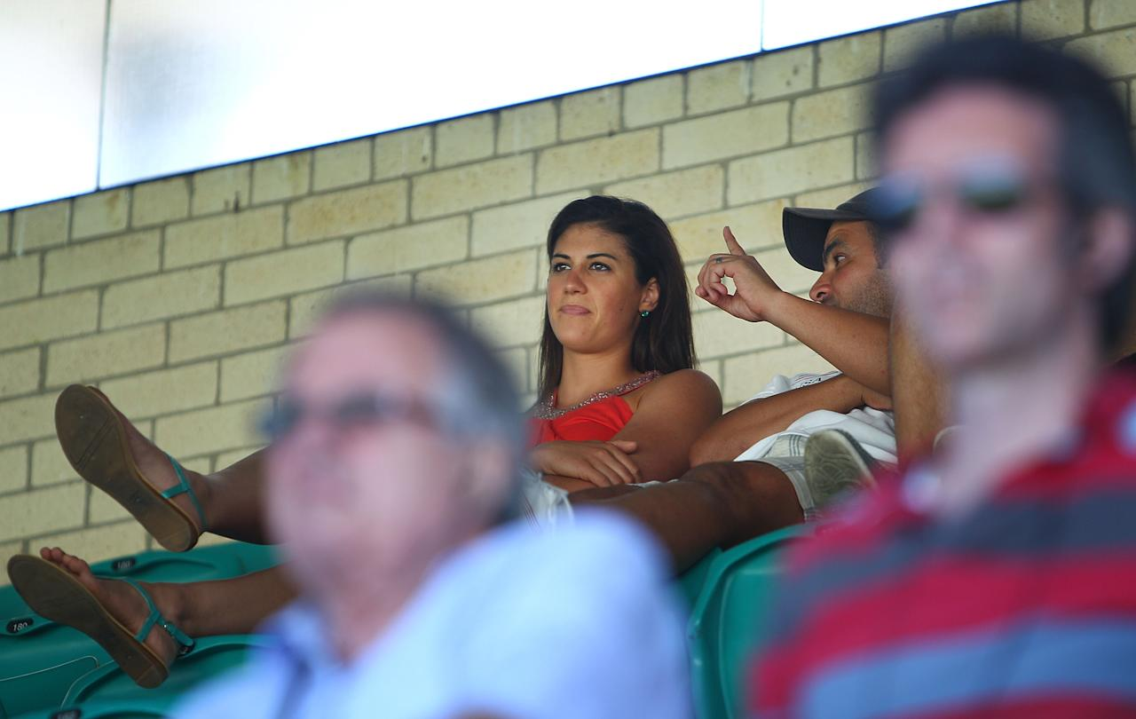 SYDNEY, AUSTRALIA - JANUARY 03:  Swimmer Stephanie Rice looks on during day one of the Third Test match between Australia and Sri Lanka at Sydney Cricket Ground on January 3, 2013 in Sydney, Australia.  (Photo by Marianna Massey/Getty Images)