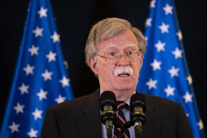 US National Security Advisor John Bolton, pictured in Jerusalem in August 2018, described the International Criminal Court as 'outright dangerous'