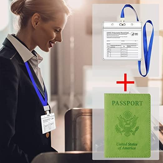 <p>It will pretty hard to miss spotting a bold <span>Tigari Passport Cover and Vaccine Card Holder Combo in Green</span> ($10), even in a large purse.</p>