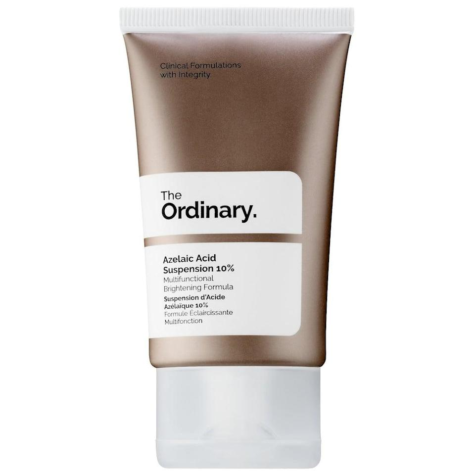 <p><span>The Ordinary's Azelaic Acid Suspension 10%</span> ($8) is an affordable choice to test out the ingredient! </p>