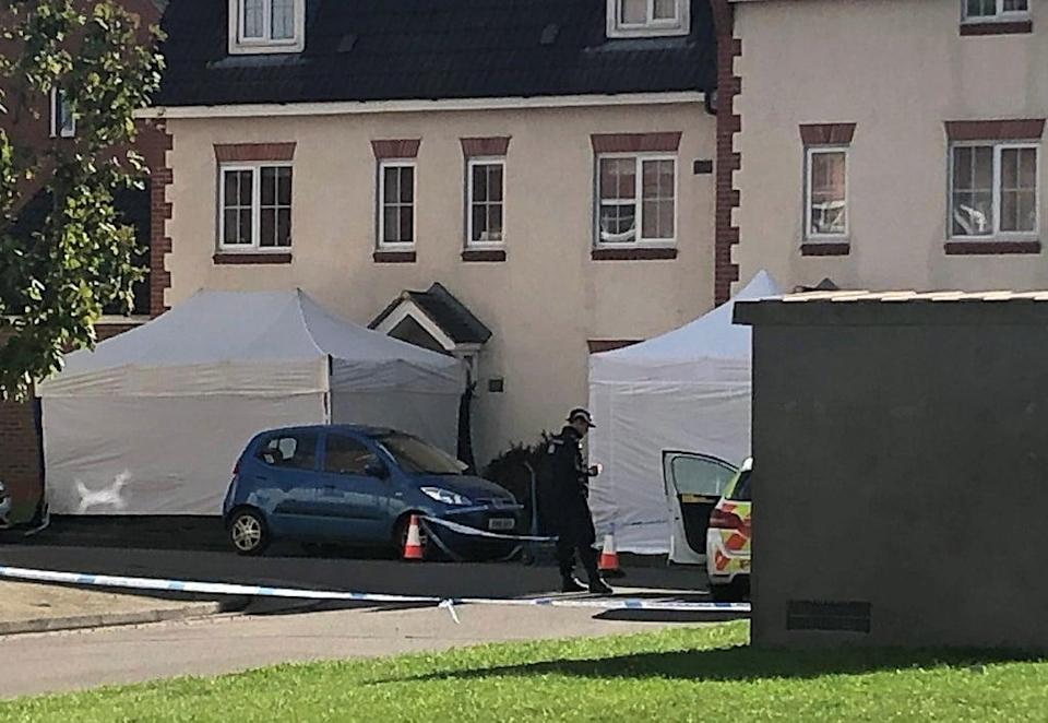Two tents have been erected at adjacent properties (Rod Minchin/PA) (PA Wire)
