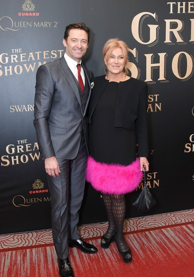 Hugh Jackman and wife Deborra-lee Furness attend the 'The Greatest Showman' World Premiere. Source: Getty