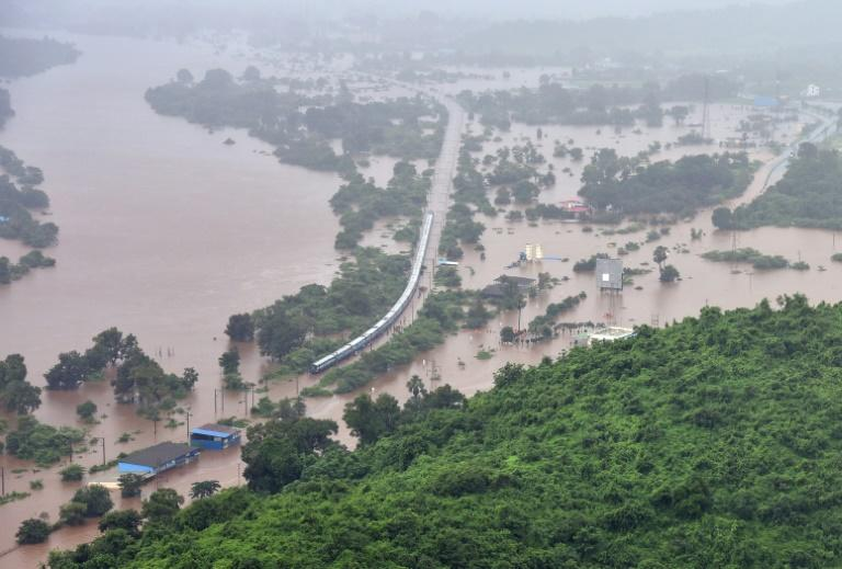 Monsoon floods in India have cut off roads and highways, and damaged infrastructure