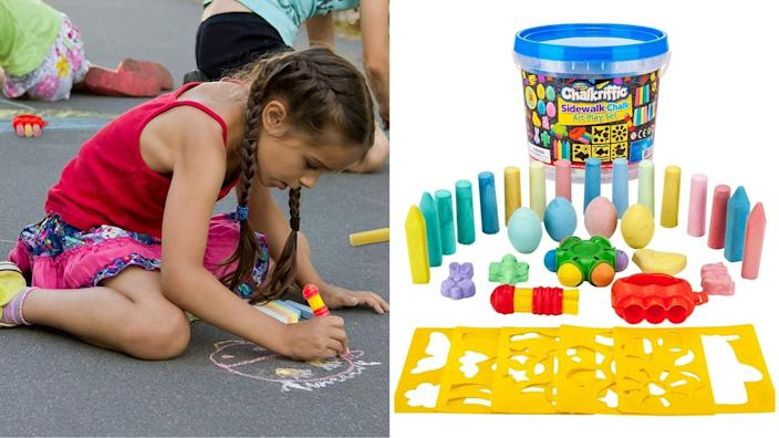 Keep the creative juices flowing with this 30-piece chalk set.