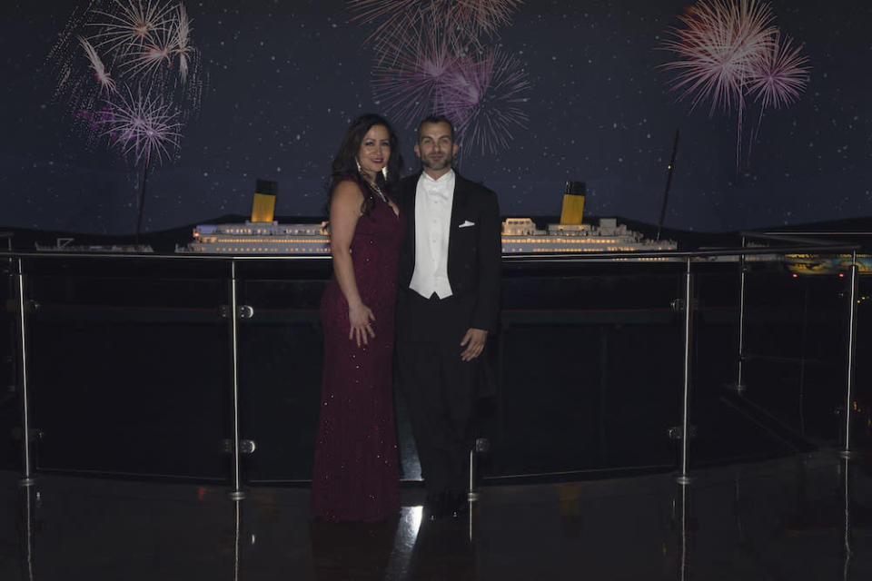 Brown and Madrid are planning to get married in Aruba in December. (Photo: Titanic Museum Attraction