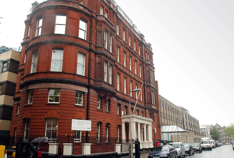 General view of Great Ormond Street Hospital in central London.