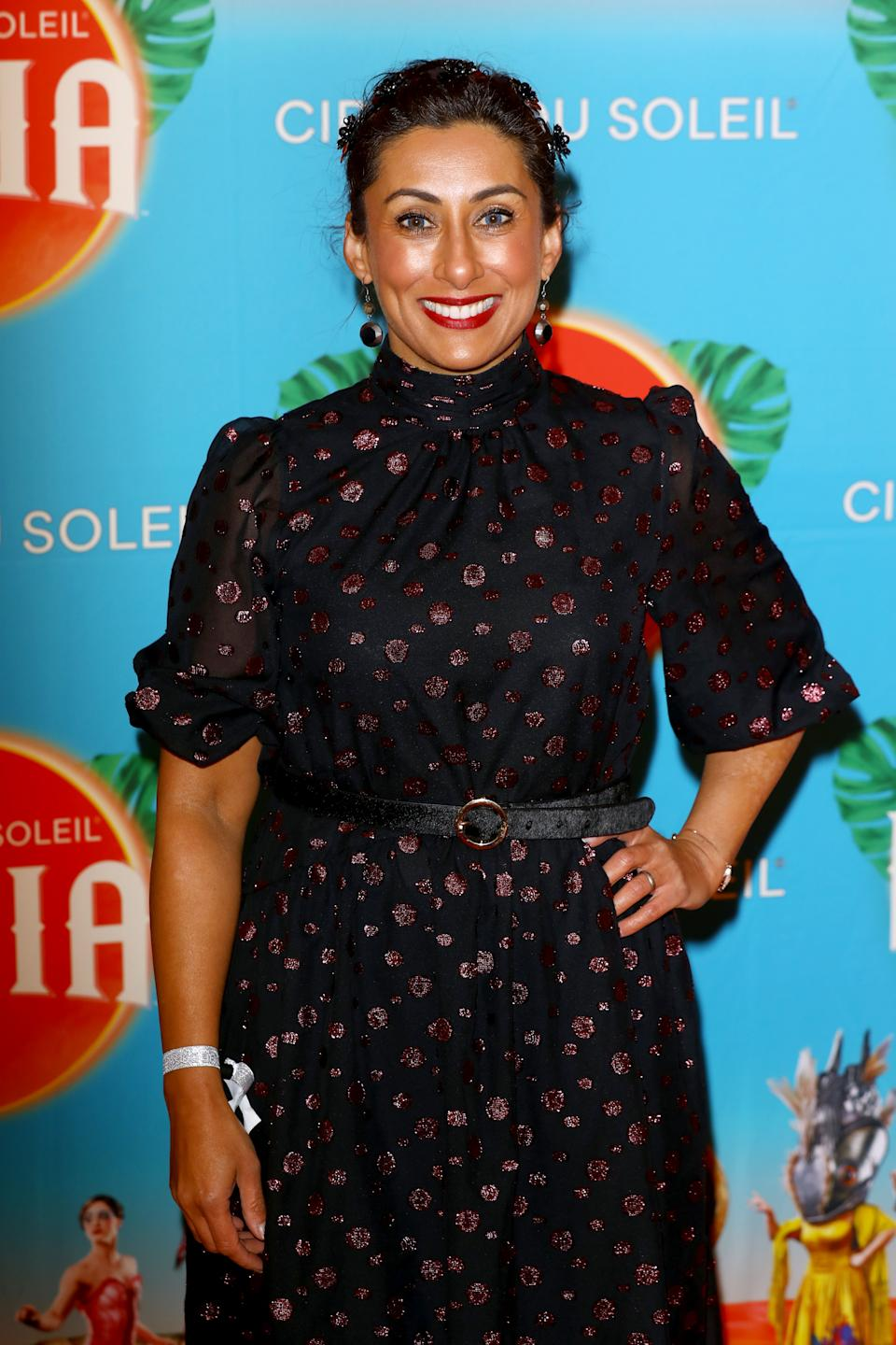 """Saira Khan attends Cirque du Soleil's """"LUZIA"""" at Royal Albert Hall on January 15, 2020 in London, England. (Photo by Tim P. Whitby/Getty Images)"""