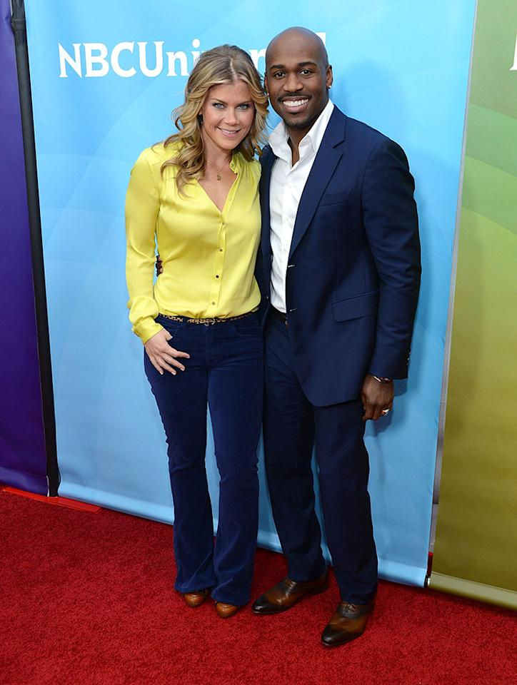 "Alison Sweeney and Dolvett Quince attend NBCUniversal's ""2013 Winter TCA Tour"" Day 1 at Langham Hotel on January 6, 2013 in Pasadena, California."