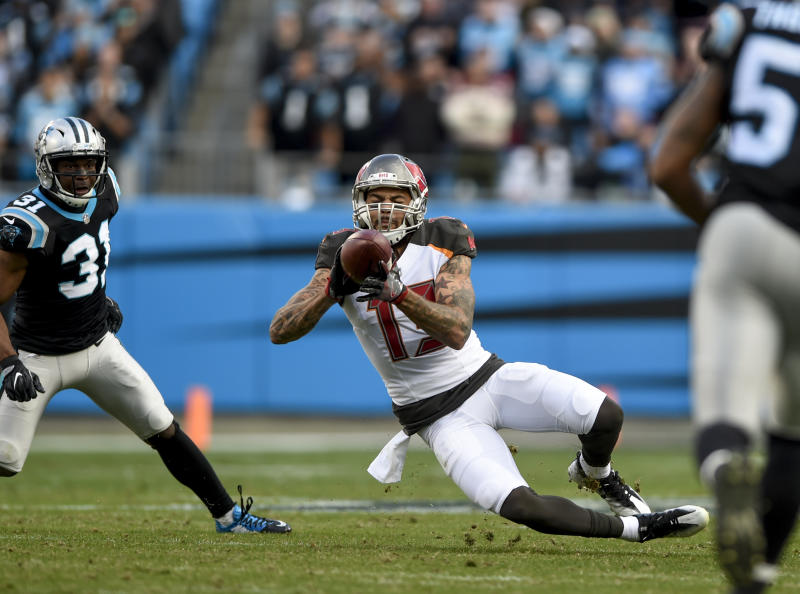 Tampa Bay Buccaneers wide receiver Mike Evans agreed to a huge extension on Friday. (AP)