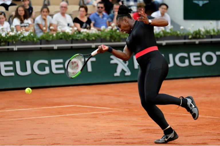 Banned: Serena Williams's catsuit at Roland Garros