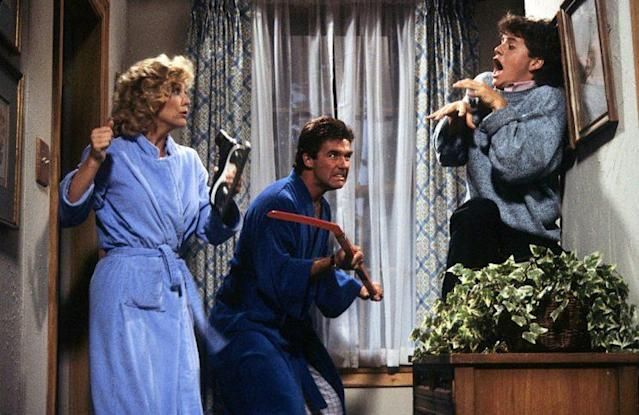 Joanna Kerns as Maggie Seaver, Alan Thicke as Dr. Jason Seaver, and Kirk Cameron as Mike Seaver in 'Growing Pains' (Photo: ABC Photo Archives/ABC via Getty Images)