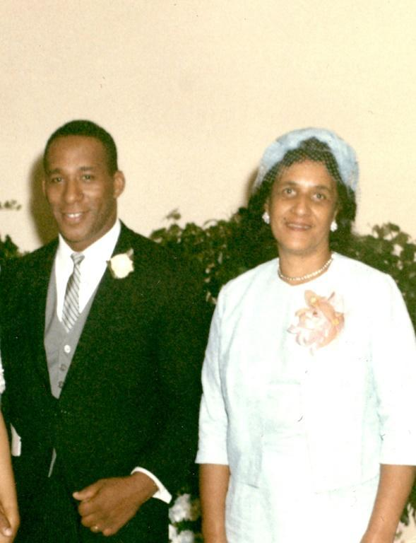 This 1965 image, courtesy of Dan Smith and Loretta Neumann, shows Dan Smith and his mother Clara Wheeler Smith at his first wedding