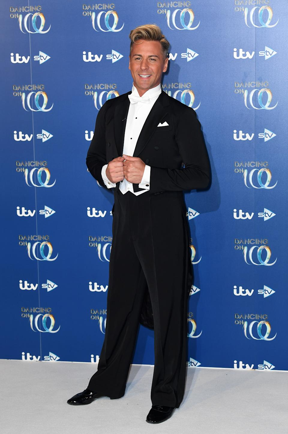 Matt Evers attending the Dancing on Ice 2020 launch held at Bovingdon Airfield, Hertfordshire. Photo credit should read: Doug Peters/EMPICS