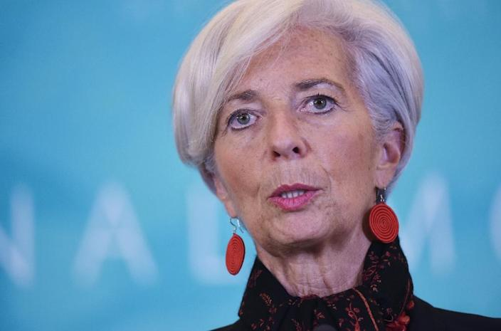 """IMF chief Christine Lagarde warned last week that it was """"hard to see"""" how the bailout could continue without Ukraine pushing through the economic restructuring and anti-corruption measures (AFP Photo/Mandel Ngan)"""
