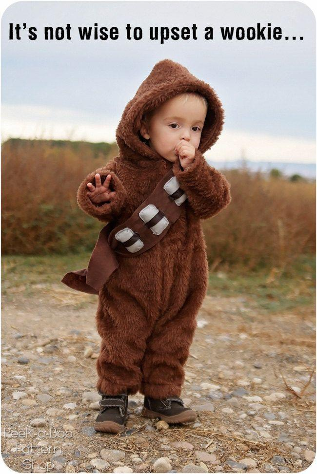 """<p>Whatever you do, don't upset a wookie. And as you know, the same goes for toddlers.</p><p><strong>Get the tutorial at <a href=""""http://www.peekaboopages.com/2015/10/diy-chewbacca-costume.html"""" rel=""""nofollow noopener"""" target=""""_blank"""" data-ylk=""""slk:Peekaboo Pages"""" class=""""link rapid-noclick-resp"""">Peekaboo Pages</a>.</strong></p><p><a class=""""link rapid-noclick-resp"""" href=""""https://www.amazon.com/Faux-Fake-Mongolian-CAMEL-Fabric/dp/B00DOG2F4G/?tag=syn-yahoo-20&ascsubtag=%5Bartid%7C10050.g.4975%5Bsrc%7Cyahoo-us"""" rel=""""nofollow noopener"""" target=""""_blank"""" data-ylk=""""slk:SHOP FAUX FUR"""">SHOP FAUX FUR</a></p>"""